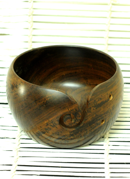 Embellished wood,Indiacraft,Wooden Yarn Bowl- Large