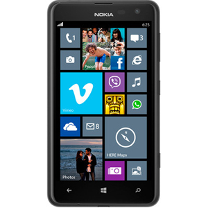 Smart Phones, Mobile Phones, Nokia, Nokia Lumia 625 (Black) , Micro-SIM , 133.3 x 72.3 x 9.2 mm, 87.6 cc (5.25 x 2.85 x 0.36 in) , 159 g (5.61 oz) , IPS LCD capacitive touchscreen, 16M colors , 4.7 inches (~199 ppi pixel density) , Yes , Vibration; MP3, WAV ringtones , Yes , Yes , microSD, up to 64 GB , 8 GB, 512 MB RAM , Class B , Class B , HSDPA, 42.2 Mbps; HSUPA, 5.76 Mbps; LTE, Cat3, 50 Mbps UL, 100 Mbps DL , Wi-Fi 802.11 b/g/n, Wi-Fi hotspot , Yes, v4.0 with A2DP, LE , Yes, microUSB v2.0 , 5 MP, 2592х1936 pixels, autofocus, LED flash , Geo-tagging, touch focus , Yes, 1080p@30fps , Yes, VGA , Microsoft Windows Phone 8, upgradeable to WP8 Amber , Dual-core 1.2 GHz Krait , Accelerometer, proximity, compass , SMS (threaded view), MMS, Email, Push Email, IM , HTML5 , FM radio , Yes, with A-GPS support and GLONASS , No ,  , Up to 552 h , Up to 24 h (2G) / Up to 15 h 10 min (3G) , Yes , Yes, 42.2 Mbps HSDPA; 5.76 Mbps HSUPA ,  ,  ,  ,  ,  ,  ,  ,