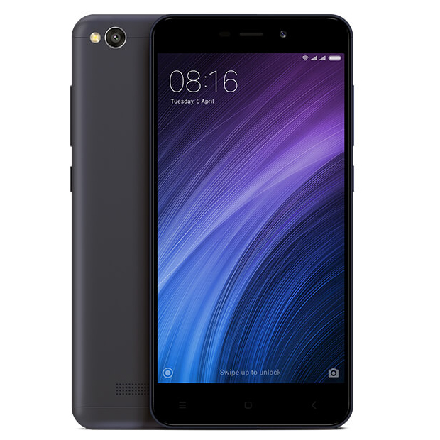 Smart Phones, Mobile Phones, XIAOMI, Redmi 4A - Dark Grey , 139.9 x 70.4 x 8.5 mm , 131.5 g , 5MP front camera  •ƒ/2.2 large aperture •Selfie countdown •Face recognition , 1080p@30fps , Geo-tagging, touch focus, face/smile detection, HDR, panorama , 13MP rear camera  5-element lens, ƒ/2.2 aperture, Single LED flash, Low light enhancement, HDR, Panorama, Burst mode, Face recognition, Real-time filters , Bluetooth 4.1, Bluetooth HID , 801.11 b/g/n, 2.4GHz Wi-Fi Wi-Fi Direct , HSPA 42.2/5.76 Mbps, LTE Cat4 150/50 Mbps , Yes , microUSB 2.0 , Yes , HD Display with 1280 x 720 resolution, 296 PPI, 1000:1 contrast ratio  72% NTSC color gamut  Reading mode Color temperature adjustment , Yes , 5