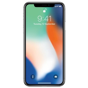 Smart Phones, Mobile Phones, Apple, Apple iPhone X , Up to 21 hours , Height: 143.6 mm (5.65 inches) Width: 70.9 mm (2.79 inches) Depth: 7.7 mm (0.30 inches)  , Weight: 174 grams (6.14 ounces) , 7-megapixel camera Portrait mode Portrait Lighting (beta) Animoji 1080p HD video recording Retina Flash ƒ/2.2 aperture Wide colour capture for photos and Live Photos Auto HDR Backside illumination sensor Body and face detection Auto image stabilisation Burst mode Exposure control Timer mode , 4K video recording at 24 fps, 30 fps or 60 fps 1080p HD video recording at 30 fps or 60 fps 720p HD video recording at 30 fps Optical image stabilisation for video Optical zoom, 6x digital zoom Quad-LED True Tone flash Slow motion video support for 1080p at 120 fps or 240 fps Time-lapse video with stabilisation Cinematic video stabilisation (1080p and 720p) Continuous autofocus video Body and face detection Noise reduction Take 8-megapixel still photos while recording 4K video Playback zoom Video geotagging Video formats recorded: HEVC and H.264 , Wide-angle: ƒ/1.8 aperture Telephoto: ƒ/2.4 aperture Optical zoom; digital zoom up to 10x Portrait mode Portrait Lighting (beta) Dual optical image stabilisation Six‑element lens Quad-LED True Tone flash with Slow Sync Panorama (up to 63MP) Sapphire crystal lens cover Backside illumination sensor Hybrid IR filter Autofocus with Focus Pixels Tap to focus with Focus Pixels Live Photos with stabilisation Wide colour capture for photos and Live Photos Improved local tone mapping Body and face detection Exposure control Noise reduction Auto HDR for photos Auto image stabilisation Burst mode Timer mode Photo geotagging Image formats captured: HEIF and JPEG , 12-megapixel wide-angle and telephoto cameras , Bluetooth 5.0 wireless technology ,  802.11ac Wi‑Fi with MIMO , LTE Cat. 9, 3CA, 450Mbps DL/50Mbps UL , Yes , Lightning to USB Cable , Yes , Super Retina HD all-screen OLED Multi-Touch display , Yes , 5.8