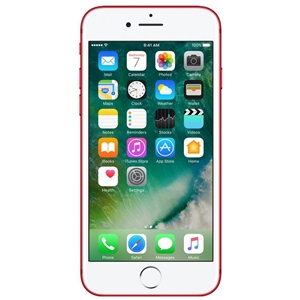 Smart Phones, Mobile Phones, Apple, Apple iPhone 7 - Red - 128GB , Up to 16 days* *Battery life depends on usage of the product , Up to 21 hours on 3G *Battery life depends on usage of the product , 138.3 mm x 67.1 mm x 7.1 mm , 138 grams , 7 MP 1080p HD video recording Retina Flash ƒ/2.2 aperture Wide color capture for photos and Live Photos Auto HDR Backside illumination sensor Body and face detection Auto image stabilization Burst mode Exposure control Timer mode , 1080p HD video recording at 30 fps or 60 fps 720p HD video recording at 30 fps Optical image stabilization for video , 4K video recording at 30 fps, Quad-LED True Tone flash Slo‑mo video support for 1080p at 120 fps and 720p at 240 fps Time‑lapse video with stabilization Cinematic video stabilization (1080p and 720p) Continuous autofocus video Body and face detection Noise reduction Take 8-megapixel still photos while recording 4K video Playback zoom Video geotagging , 12MP camera 12MP wide-angle and telephoto cameras ƒ/1.8 aperture Wide-angle: ƒ/1.8 aperture Telephoto: ƒ/2.8 aperture Digital zoom up to 5x Optical zoom at 2x; digital zoom up to 10x , Bluetooth 4.2 wireless technology , 802.11a/b/g/n/ac Wi‑Fi with MIMO , HSPA, LTE Cat4 150/50 Mbps , Yes , Lightning to USB Cable , Yes , Retina HD display with IPS technology , Yes , 4.7