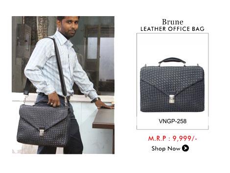 Brune Leather Office Bag
