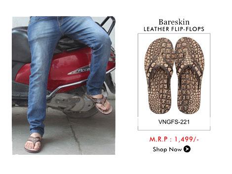 Bareskin Leather Flip Flops