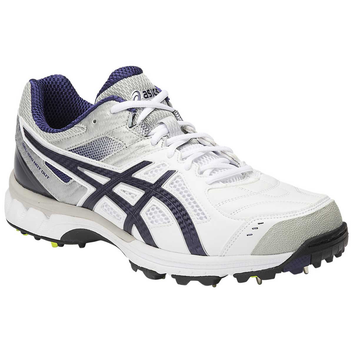Cricket Shoes, Cricket, Sports, Buy, Asics, Asics Gel-220 Not Out Cricket  Shoes(White/Indigo Blue/Silver)