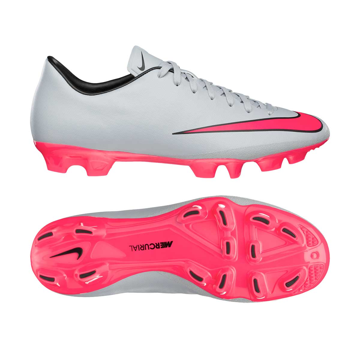Football Shoes, Football, Sports, Buy, Nike, Nike Mercurial Victory V HG Football  Shoes (Grey/Pink/Bk)