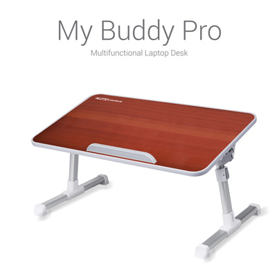 Portable Laptop Cooling Stands, Portronics, POR-711 My Buddy Pro Multifunctional Laptop Desk, Adjustable laptop desk, portable laptop desk, port , Very attractive design and finish , 0-300 , Tabletop : 20.5 X 11.8 X 0.35 inch., Tabletop material : MDF with Oakwood Finish, Suitable for : Upto 17 inch. laptop or smaller, Table Height : 24 - 32 CM, Adjustable Angle : 0-300, Weight : 1.49 Kg