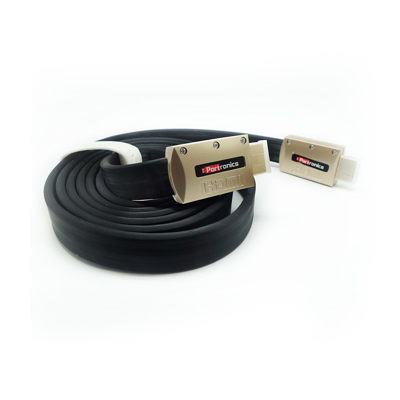 Cables, Portronics, HDMI Cable , Attractive packaging design. , High speed data transfer upto 10.2Gbps , Real-time signaling of content type between display and source devices, enabling a TV to optimize picture setting based on content type. , Connector HDMI 19pin male to male Length 2M, Flat HDMI Cable, Function 3D, 4K support, Resolution 4K x 2K and 1080p
