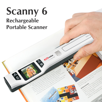 Portable Scanners, Portronics, Scanny 6 : Rechargeable Portable Scanner , USB cable, User's manual,Software CD , It is Portable , 26.5*3.8*2.4 cm , The scans can be seen on the scanner itself on 1.44 inch screen to be sure of the scan quality , 490 gm