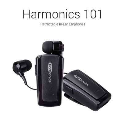 Headphones, Portronics, Harmonics 101 Retractable Bluetooth In-Ear Earphones , Rewind Button, Multi Function Button, Status Indicator, Microphone, Clip, Speaker , Compatible with all Bluetooth enabled phones including smartphones and iPhones. , The Harmonics 101 Mini Retractable Bluetooth Headset is our basic model with a very small footprint. , Bluetooth Version v3.0, Battery Rechargeable Li-Polymer battery, Functions Calling Headphone, Distance 10M Open Area, Standby time 110hrs. & above, Talktime 5+ hours, Dimension 47 X 26 X 14.5mm