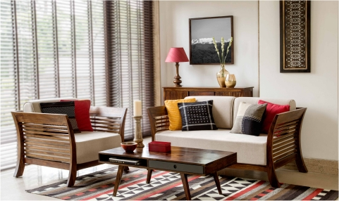 Buy fabindia furniture online in india for Drawing room furniture catalogue