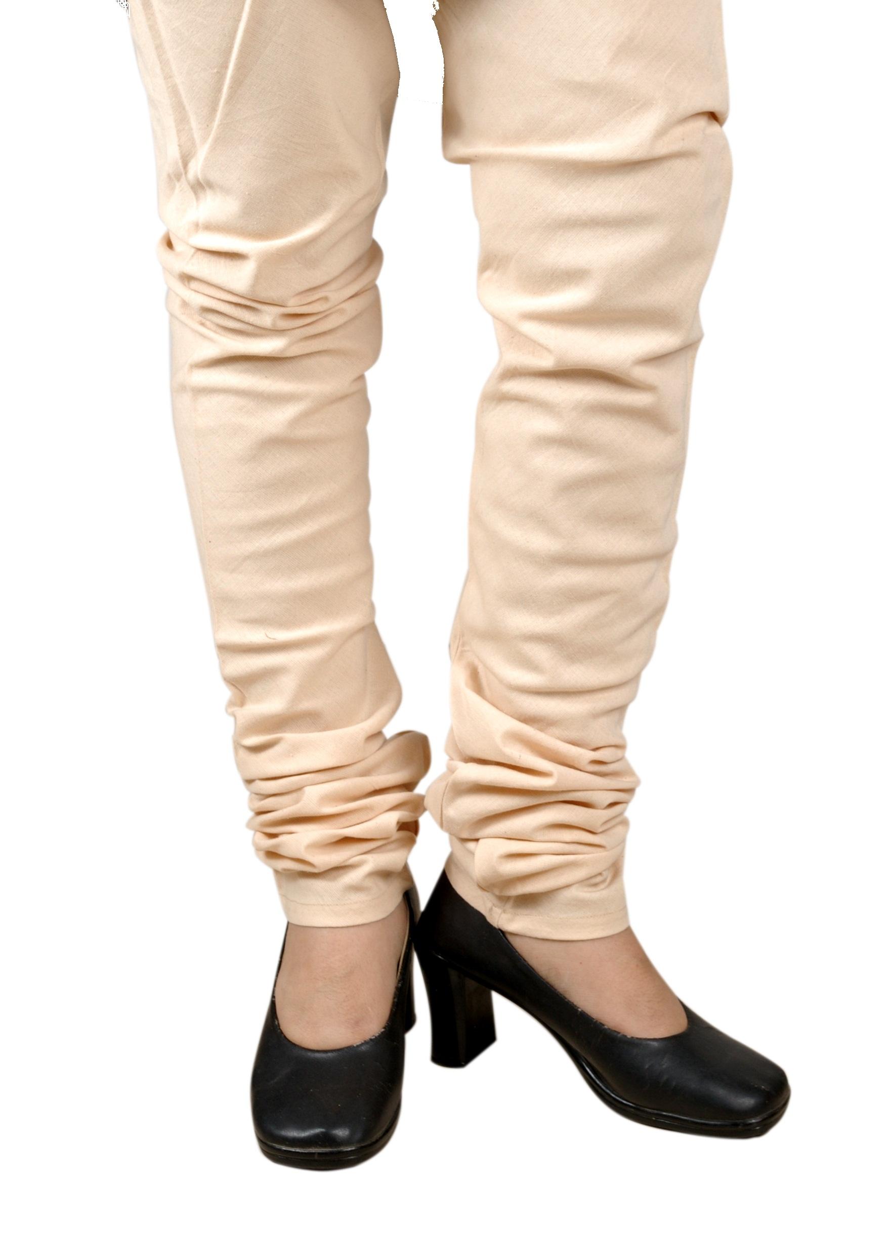 Cotton Churidars, Bottoms, Womens Wear, Indian Concepts, Beige Colour Churidar