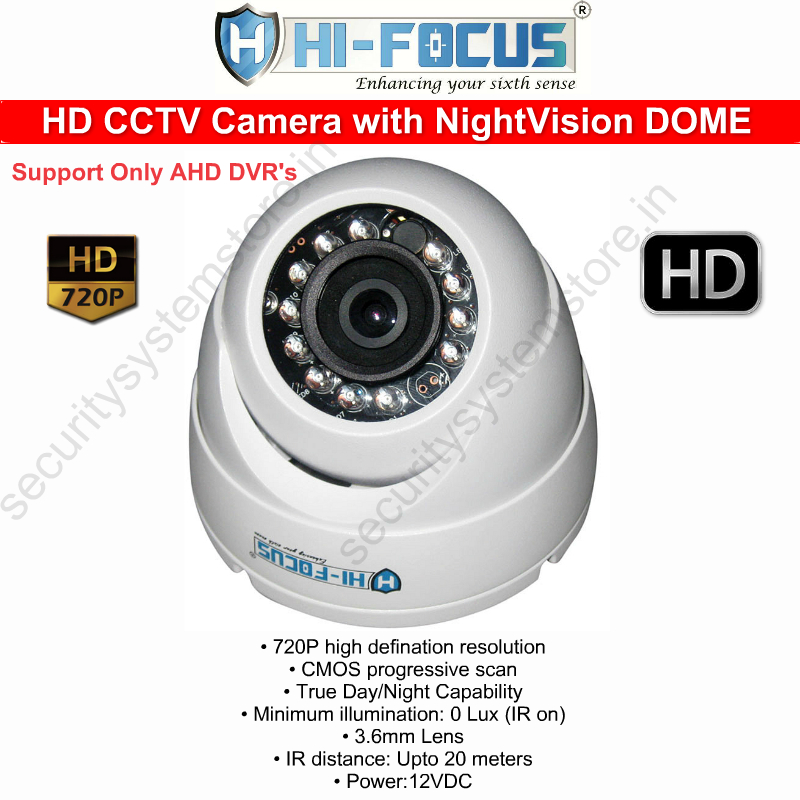 hifocus hd dome cctv camera
