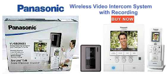 Video Door Phone, Door Alarm Systems, Panasonic, Panasonic Video Intercom System Wireless VL-SW250BX