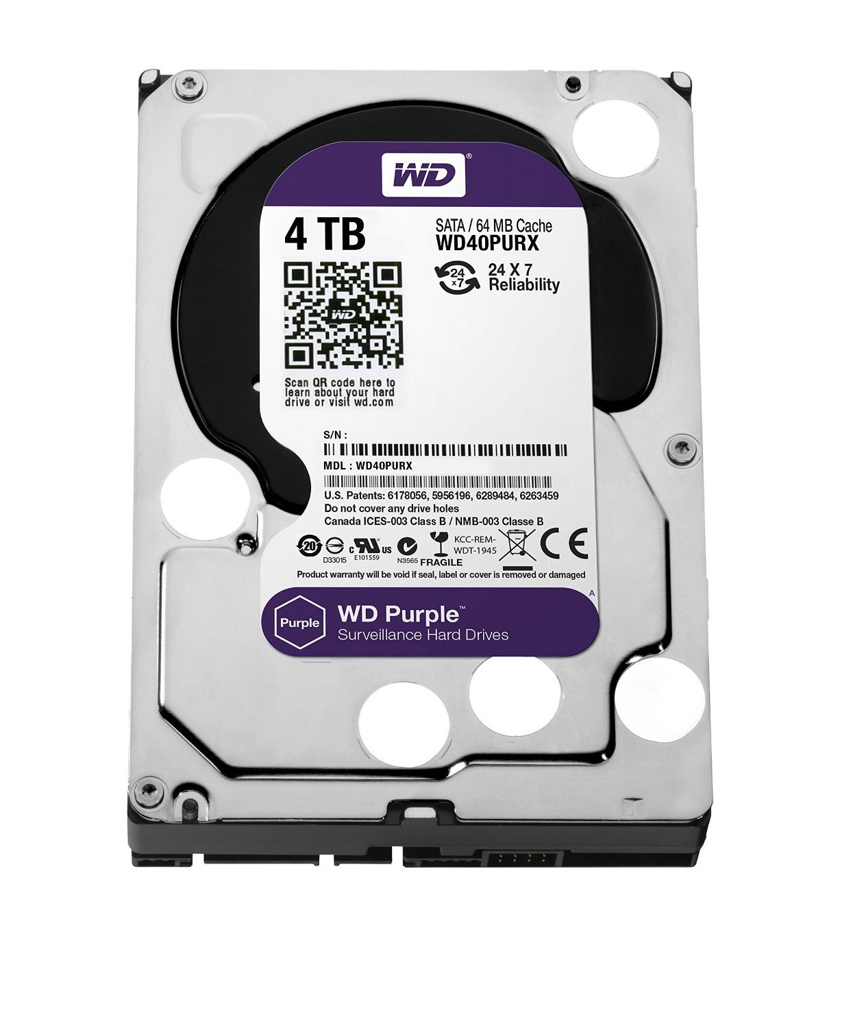 DVR Peripheral & Accessories,WD,WD Purple Surviellance HDD 4TB