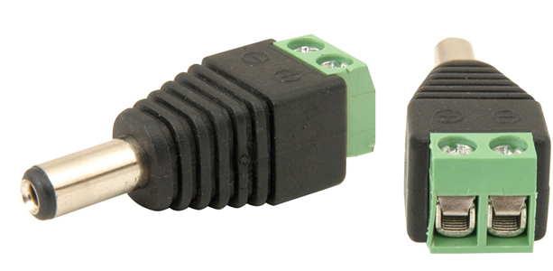 CCTV Camera Connector's,SSS,ST DC Connector with Screw Terminals to Connect Power Supply with CCTV Camera