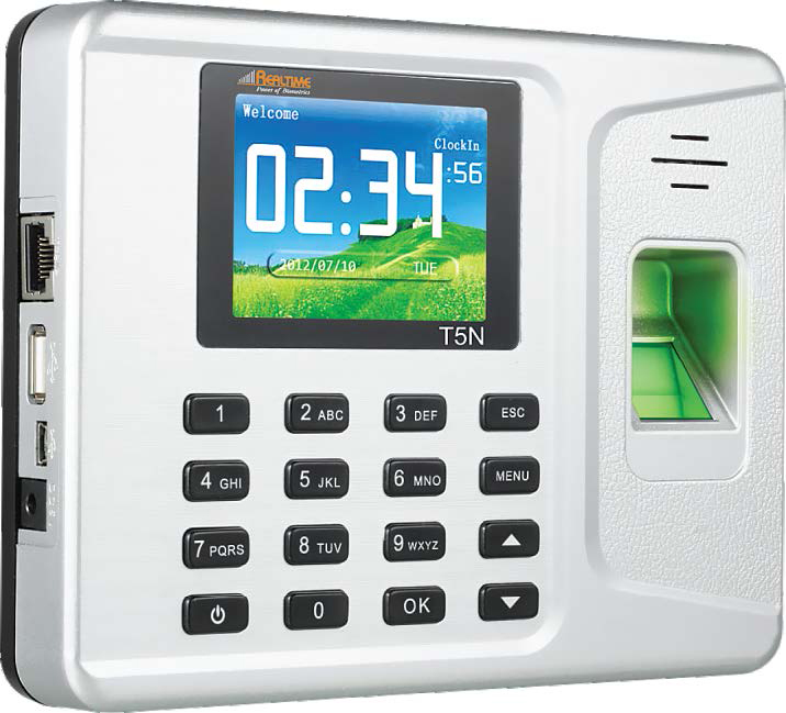 Access Control Systems,Realtime,Realtime T5N Fingerprint + RFID Card based Time Attendance Recorder