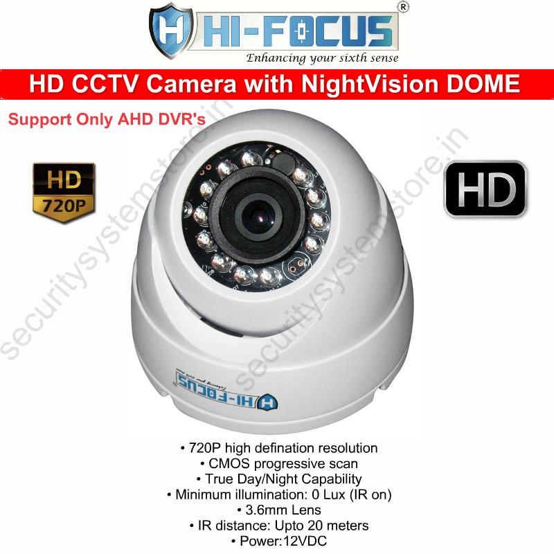 hifocus cctv camera dome