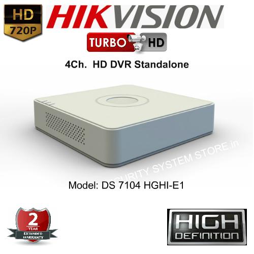 Portable DVR Standalone,Hikvision,HIKVISION 7104HGHI-E1 HD Turbo 4Ch. DVR Standalone (Portable)