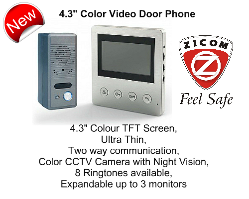 Video Door Phone,Zicom,Zicom - 4.3