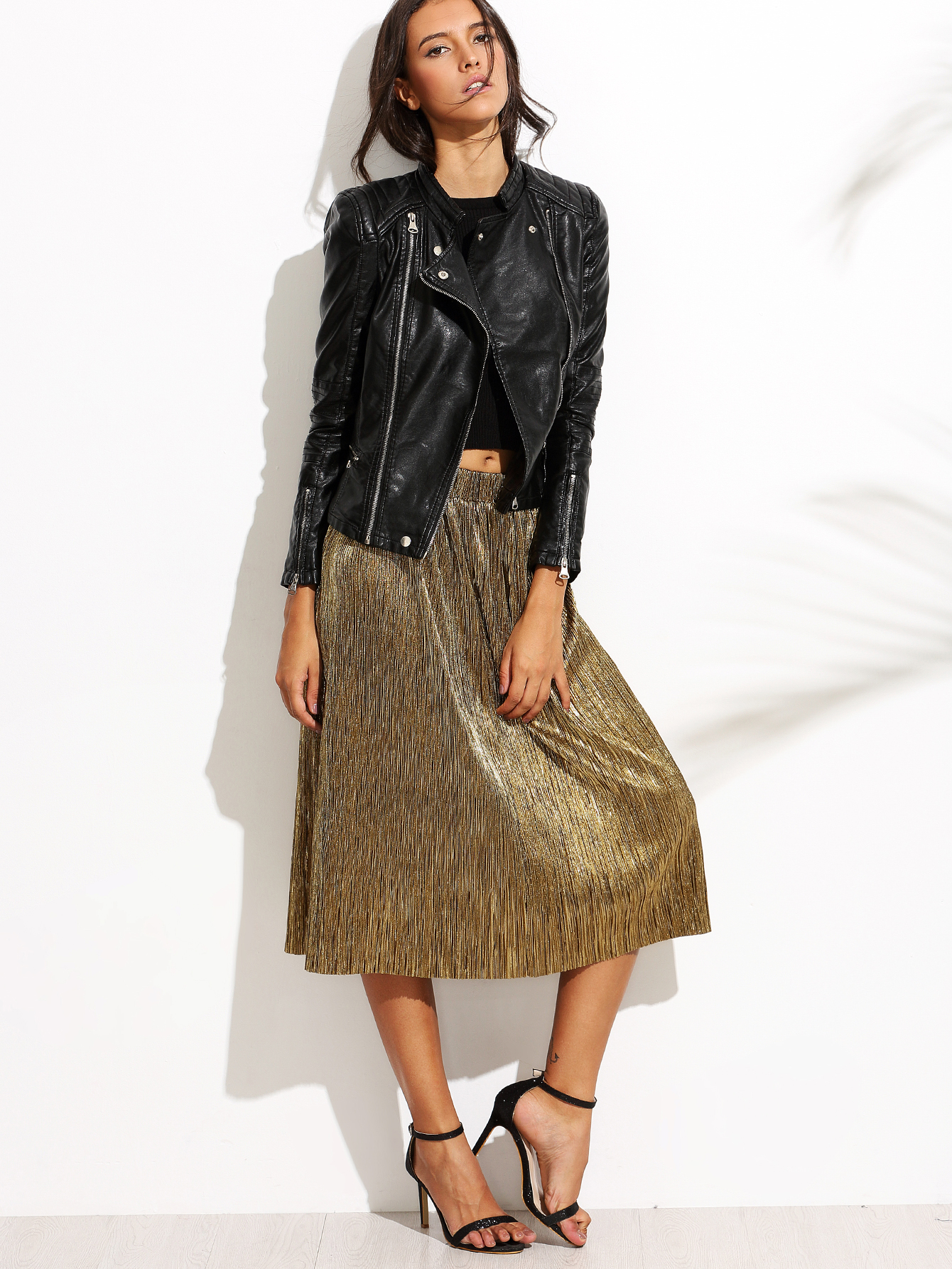 skirts|gold|midi