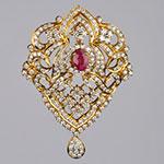 Diamond Lockets,Mangatrai,2.93ct. Diamond Locket in 18kt. Gold