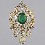 Diamond Lockets,Mangatrai,1.51ct. Diamond Locket in 18kt. Gold