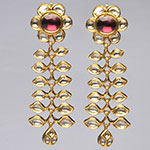 Kundan Earrings,Mangatrai,30.640gms Kundan Earrings in 22kt. Gold