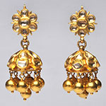 Kundan Earrings,Mangatrai,40.740gms Kundan Earrings in 22kt. Gold