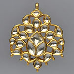 Kundan Lockets,Mangatrai,13.500gms Kundan Locket in 22kt. Gold
