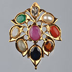 Kundan Lockets,Mangatrai,10.500gms Kundan Locket in 22kt. Gold