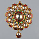 Kundan Lockets,Mangatrai,26.100gms Kundan Locket in 22kt. Gold