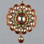 Kundan Lockets,Mangatrai,26.100gms Kundan Locket in 22kt. Gold