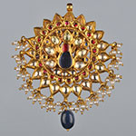 Kundan Lockets,Mangatrai,36.980gms Kundan Locket in 22kt. Gold
