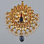 Kundan Lockets,Mangatrai,36.980gms Kundan Locket in 22kt. Gold