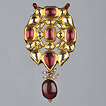 Kundan Lockets,Mangatrai,22.100gms Kundan Locket in 22kt. Gold
