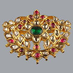 Kundan Lockets,Mangatrai,18.730gms Kundan Locket in 22kt. Gold