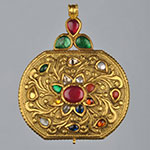 Kundan Lockets,Mangatrai,48.280gms Kundan Locket in 22kt. Gold