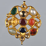 Kundan Lockets,Mangatrai,15.230gms Kundan Locket in 22kt. Gold