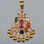 Kundan Lockets,Mangatrai,13.080gms Kundan Locket in 22kt. Gold