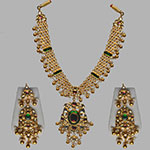 Kundan Necklace Sets,Mangatrai,130.370gms Kundan Necklace Set in 22kt. Gold
