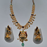 Kundan Necklace Sets,Mangatrai,102.620gms Kundan Necklace Set in 22kt. Gold