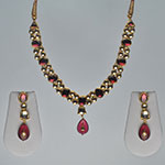 Kundan Necklace Sets,Mangatrai,65.700gms Kundan Necklace Set in 22kt. Gold