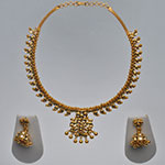 Kundan Necklace Sets,Mangatrai,108.360gms Kundan Necklace Set in 22kt. Gold