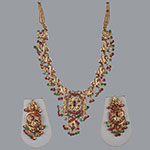 Pearl Necklace Sets,Mangatrai,54.420gms Pearls Necklace Set in 22kt. Gold