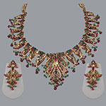 Pearl Necklace Sets,Mangatrai,31.980gms Pearls Necklace Set in 22kt. Gold