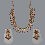 Pearl Necklace Sets,Mangatrai,Pearls Necklace Set in 22kt. Gold