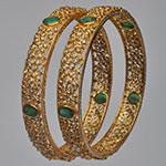 Polki Bangles,Mangatrai,Polki Bangles in 41.950gms of 22kt. Gold
