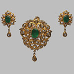 Polki Locket Sets,Mangatrai,4.31ct. Polki Locket Set in 22kt. Gold