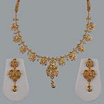 Polki Necklace Sets,Mangatrai,10.66ct. Polki Necklace Set in 22kt. Gold