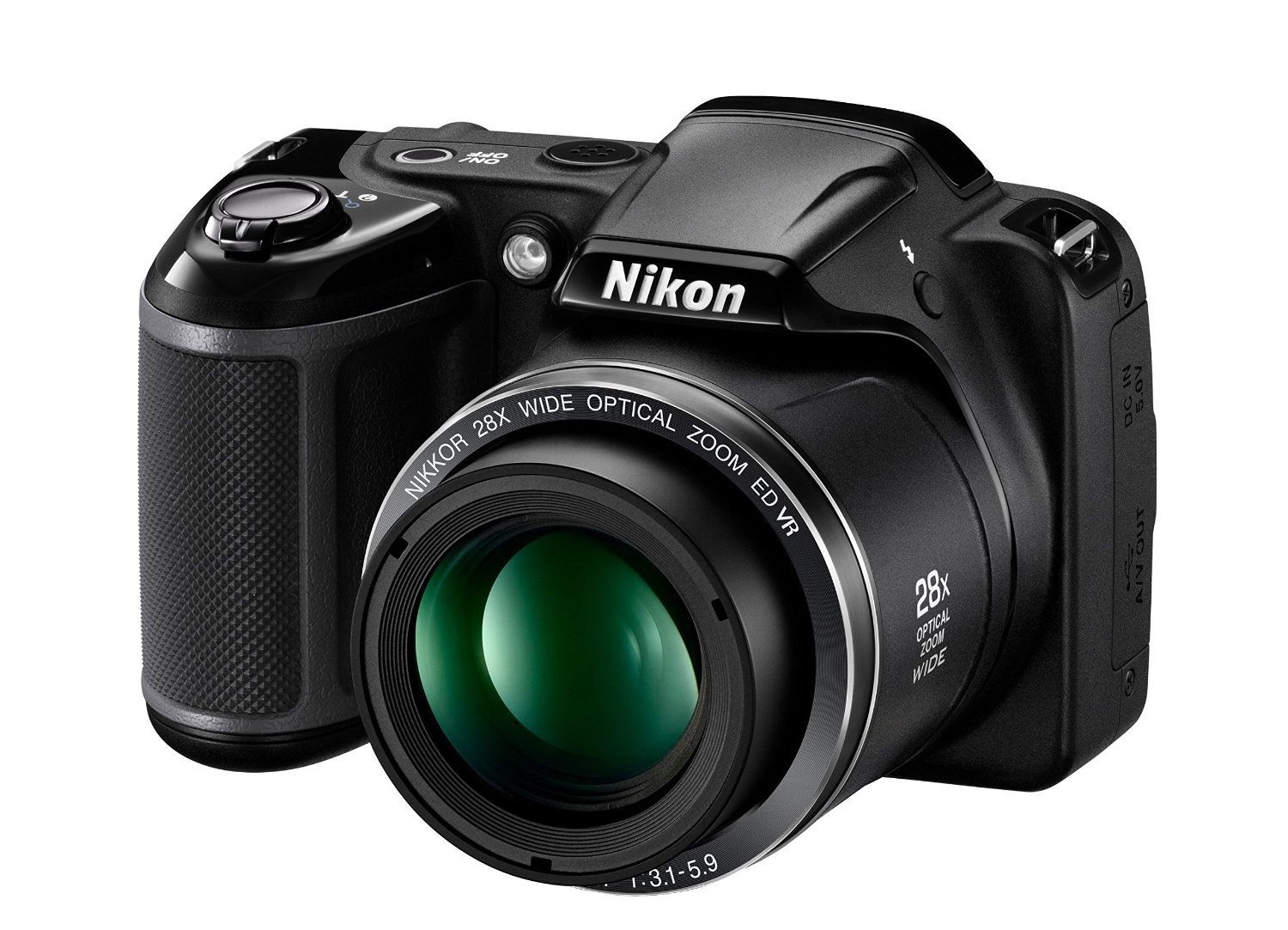 COMPACT CAMERAS, CAMERAS, PHOTO VATIKA, Nikon, Nikon Coolpix L340 20.2 MP Point And Shoot Digital Camera with 28x Optical Zoom, 16 GB Card and Came